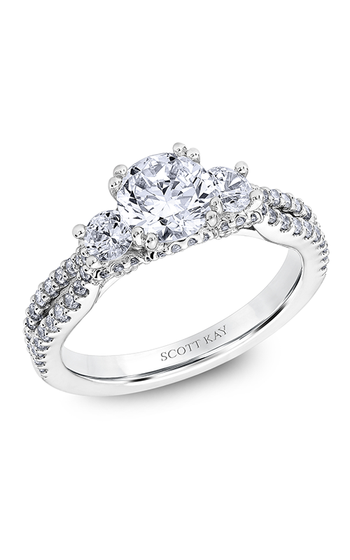 Scott Kay Heaven's Gates - 18k white gold 0.76ctw Diamond Engagement Ring, M2565R510 product image