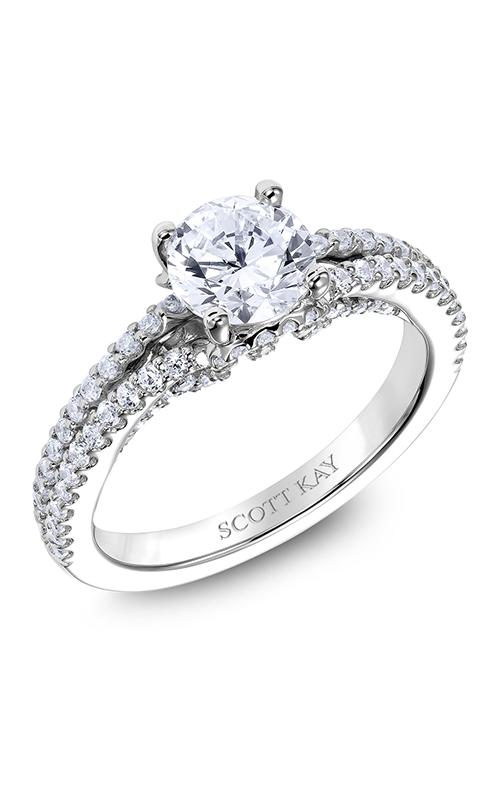 Scott Kay Heaven's Gates - 18k white gold 0.56ctw Diamond Engagement Ring, M2567R510 product image