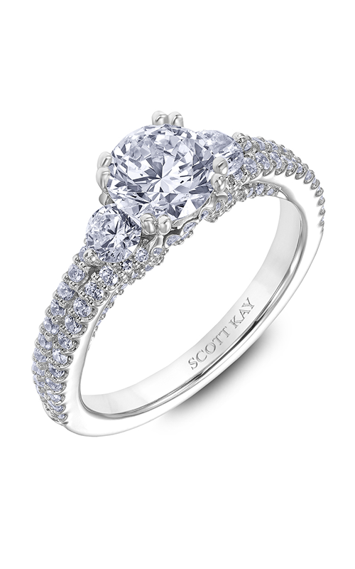 Scott Kay Heaven's Gates - 18k white gold 0.88ctw Diamond Engagement Ring, M2568R510 product image