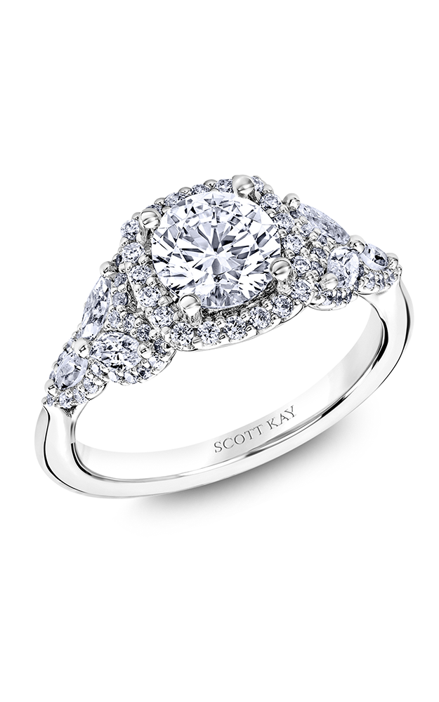 Scott Kay Namaste - 18k white gold  Engagement Ring, M2574RM515 product image