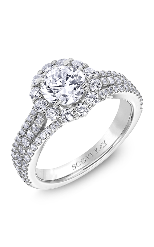 Scott Kay Namaste - 18k white gold 1.02ctw Diamond Engagement Ring, M2577R510 product image