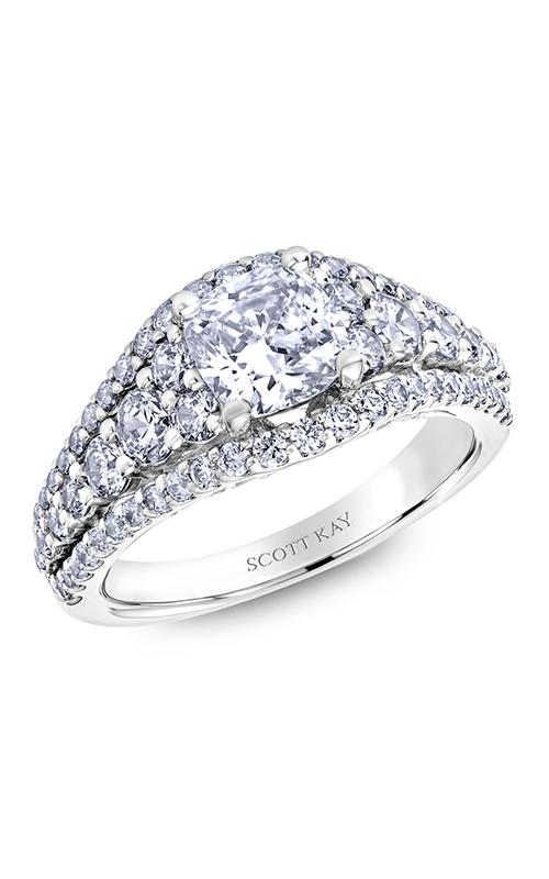 Scott Kay Namaste - 18k white gold 1.51ctw Diamond Engagement Ring, M2583R515 product image
