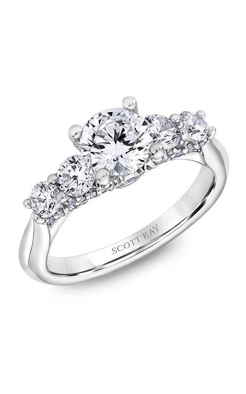 Scott Kay The Crown - 18k white gold 0.99ctw Diamond Engagement Ring, M2586R510 product image