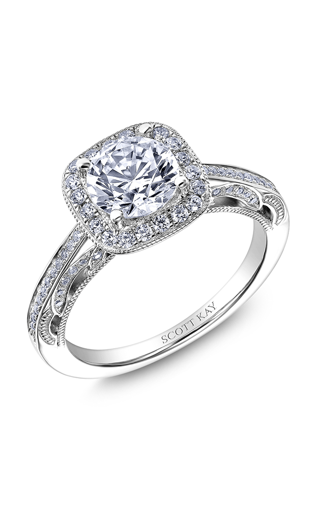 Scott Kay Parisi - 18k white gold 0.40ctw Diamond Engagement Ring, M2611R310 product image