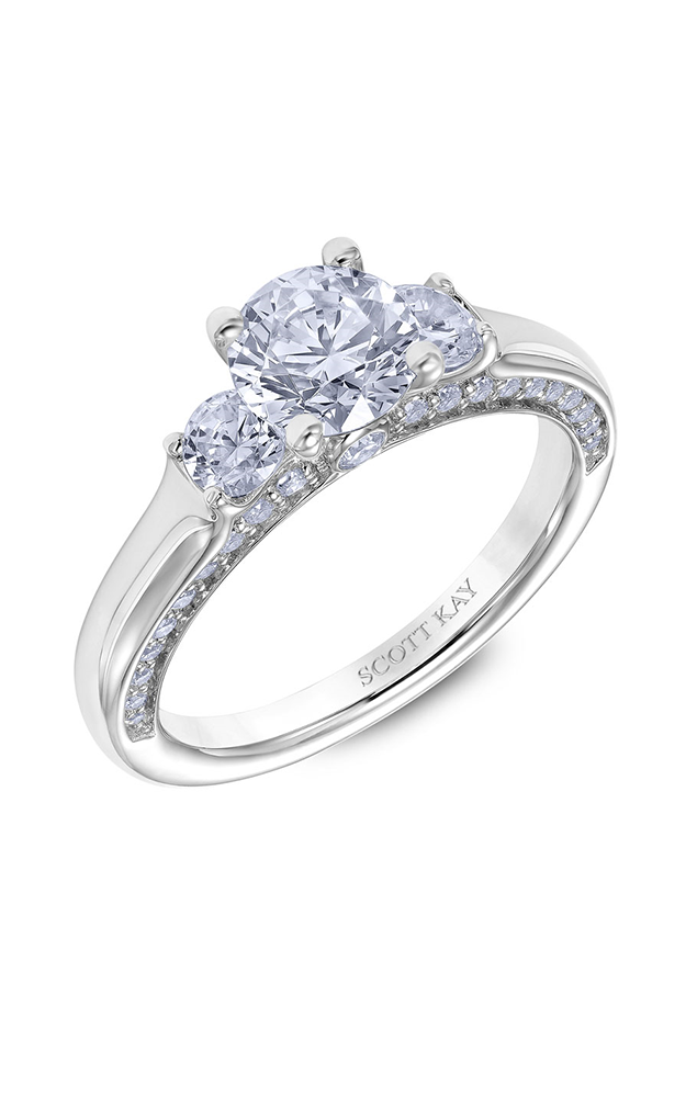 Scott Kay The Crown - 18k white gold  Engagement Ring, M2615BR510 product image
