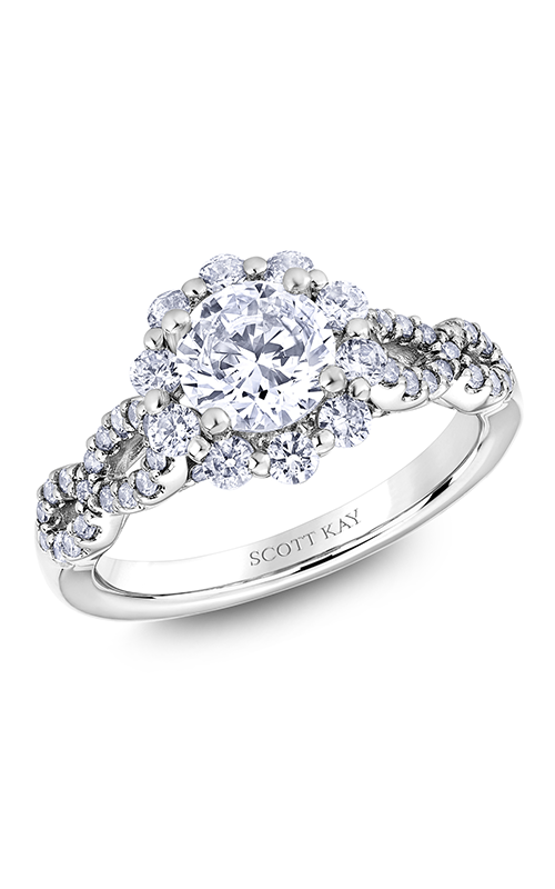Scott Kay Namaste - 18k white gold 0.80ctw Diamond Engagement Ring, M2626R510 product image