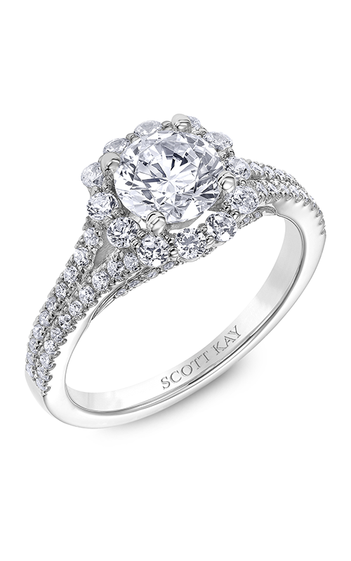 Scott Kay Namaste - 14k white gold 0.70ctw Diamond Engagement Ring, M2481R310 product image