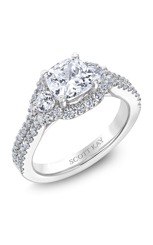 Scott Kay Luminaire - 14k white gold 0.91ctw Diamond Engagement Ring, M2525R515 product image