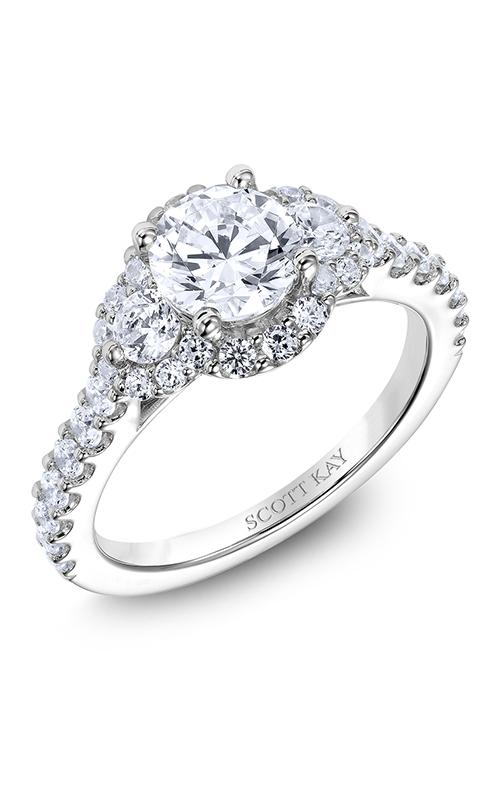 Scott Kay Luminaire - 14k white gold 0.94ctw Diamond Engagement Ring, M2526R510 product image