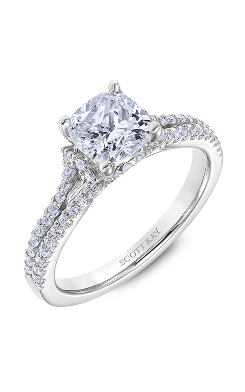 Scott Kay Heaven's Gates - 14k white gold 0.39ctw Diamond Engagement Ring, M2563R515 product image