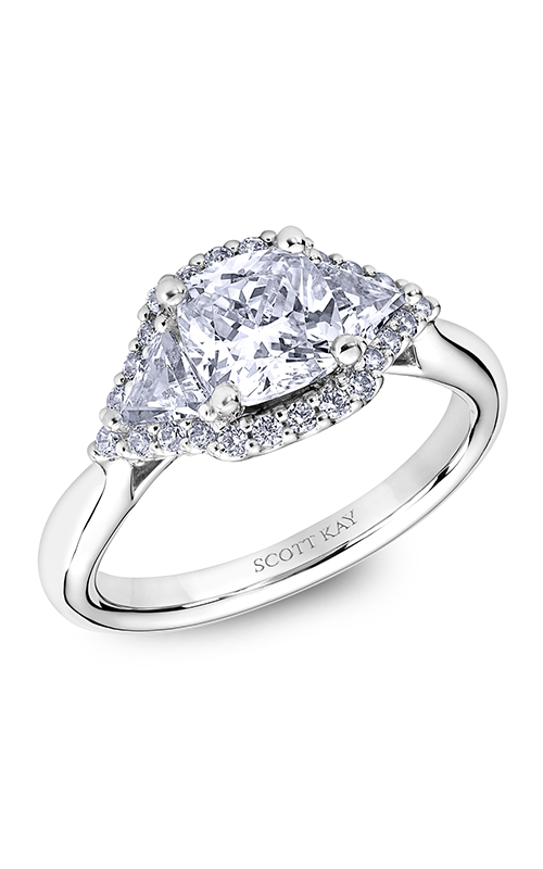 Scott Kay Heaven's Gates - Platinum  Engagement Ring, M2564TR515 product image