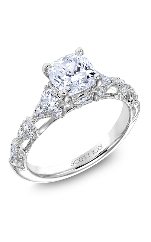 Scott Kay Heaven's Gates - 14k white gold 0.50ctw Diamond Engagement Ring, M2566R515 product image
