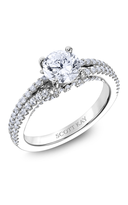 Scott Kay Heaven's Gates - 14k white gold 0.56ctw Diamond Engagement Ring, M2567R510 product image
