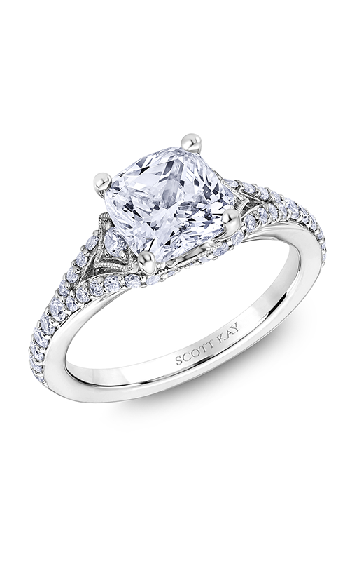 Scott Kay Heaven's Gates - 14k white gold 0.51ctw Diamond Engagement Ring, M2623R520 product image