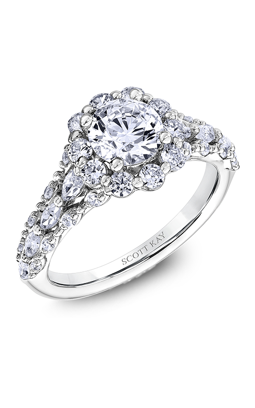 Scott Kay Luminaire - 14k white gold 1.18ctw Diamond Engagement Ring, M2606RM510 product image