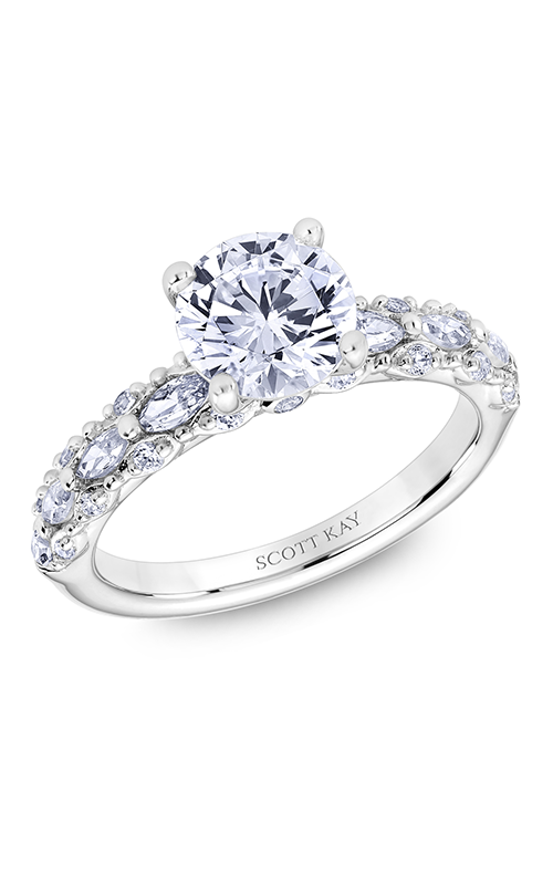 Scott Kay Luminaire - 14k white gold 0.70ctw Diamond Engagement Ring, M2617RM515 product image