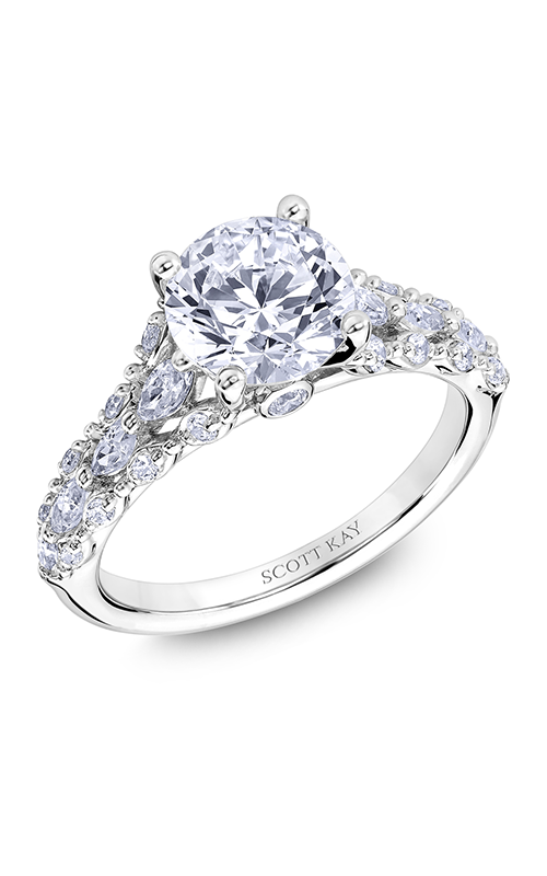 Scott Kay Luminaire - 14k white gold 0.68ctw Diamond Engagement Ring, M2618RM520 product image