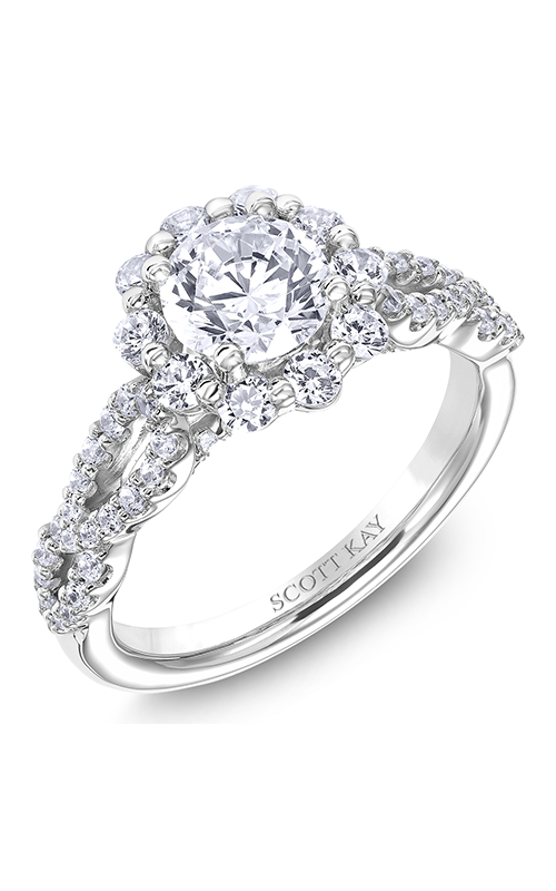 Scott Kay Namaste - 14k white gold 0.86ctw Diamond Engagement Ring, M2571R510 product image