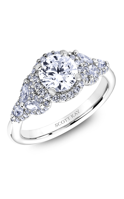Scott Kay Namaste - 14k white gold 0.96ctw Diamond Engagement Ring, M2573RM510 product image