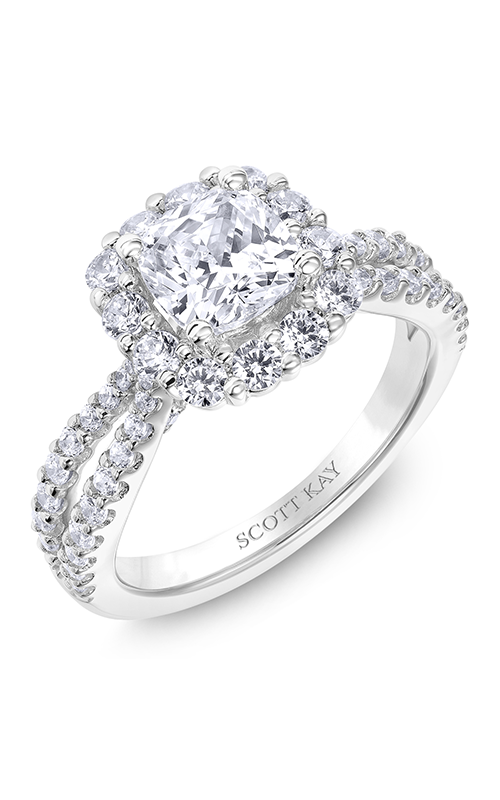 Scott Kay Namaste - 14k white gold 1.07ctw Diamond Engagement Ring, M2576R515 product image