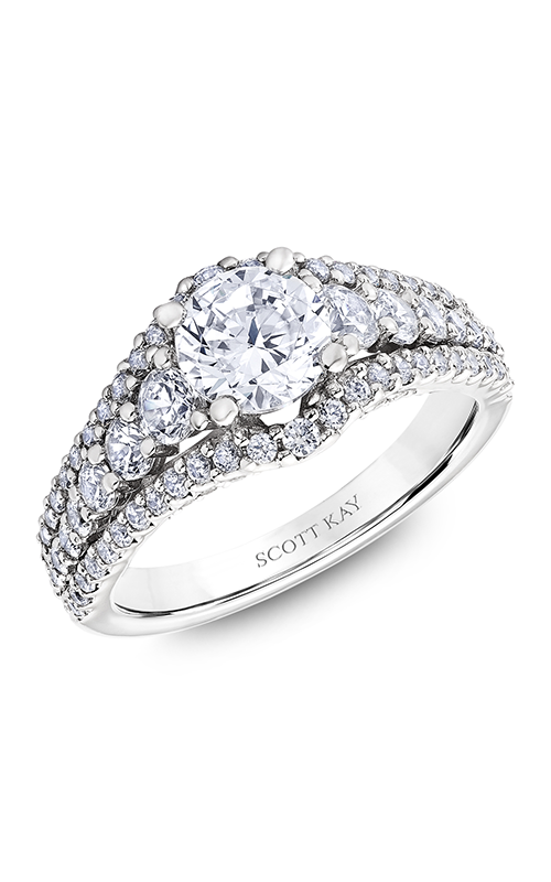 Scott Kay Namaste - 14k white gold 1.29ctw Diamond Engagement Ring, M2582R510 product image