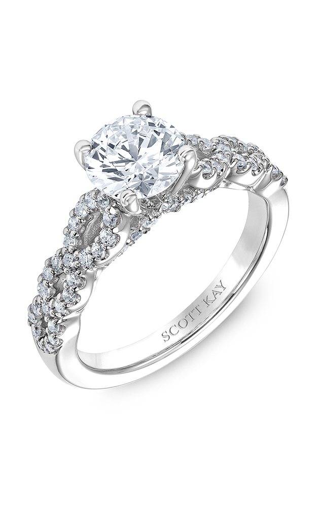 Scott Kay Namaste - 14k white gold 0.42ctw Diamond Engagement Ring, M2613R510 product image
