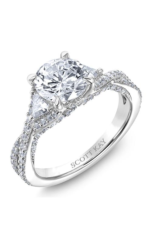Scott Kay Namaste - 14k white gold 0.93ctw Diamond Engagement Ring, M2614TR515 product image