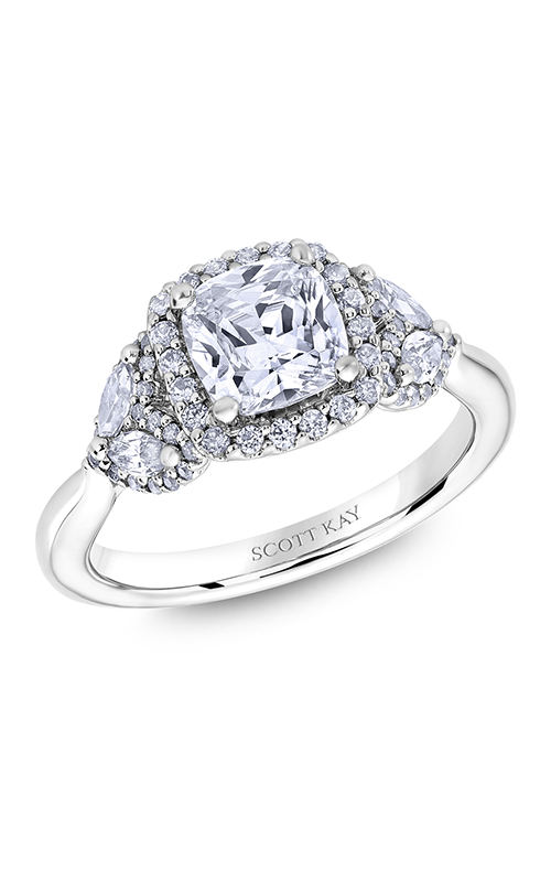 Scott Kay Namaste - 14k white gold 0.84ctw Diamond Engagement Ring, M2625RM515 product image