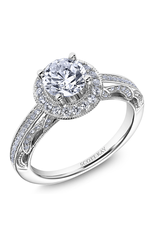 Scott Kay Parisi - 14k white gold 0.40ctw Diamond Engagement Ring, M2610R310 product image