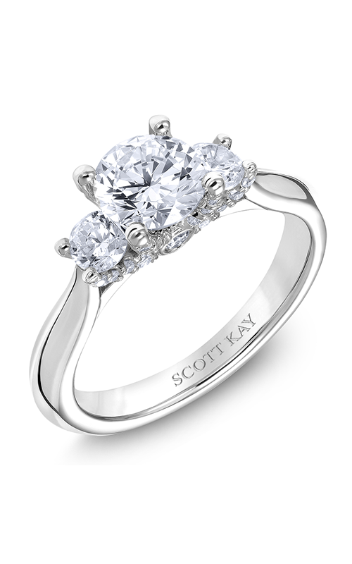 Scott Kay The Crown - 14k white gold 0.62ctw Diamond Engagement Ring, M2585R510 product image