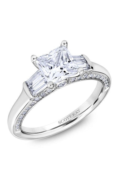 Scott Kay The Crown - 14k white gold 0.73ctw Diamond Engagement Ring, M2601BR515 product image
