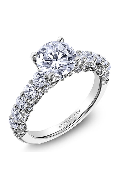 Scott Kay Heaven's Gates - 18k white gold 1.09ctw Diamond Engagement Ring, M2561R515 product image