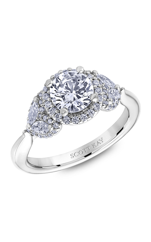 Scott Kay Namaste - 18k white gold 0.82ctw Diamond Engagement Ring, M2624RM510 product image