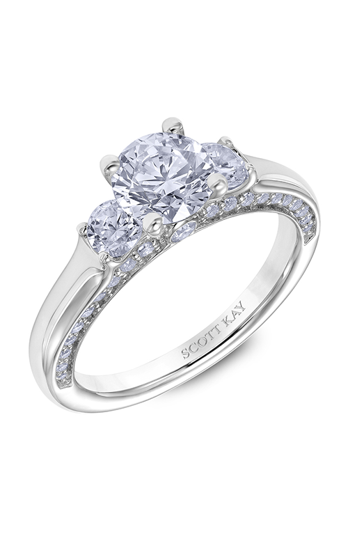 Scott Kay The Crown - 18k white gold 0.72ctw Diamond Engagement Ring, M2615R510 product image