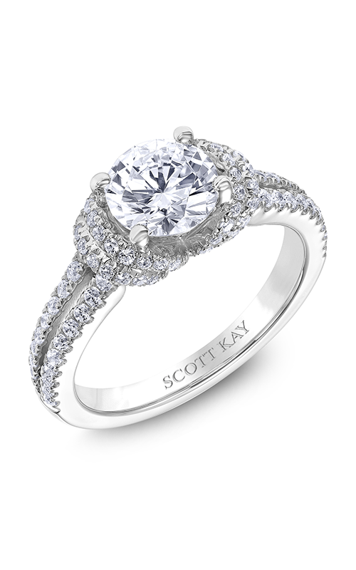 Scott Kay Luminaire - 14k white gold 0.51ctw Diamond Engagement Ring, M2510R312 product image