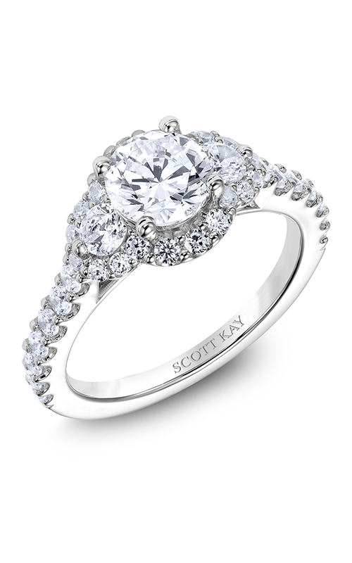 Scott Kay Luminaire - 18k white gold 0.94ctw Diamond Engagement Ring, M2526R510 product image