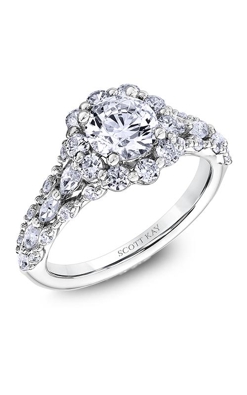 Scott Kay Luminaire - 18k rose gold 1.18ctw Diamond Engagement Ring, M2606RM510 product image