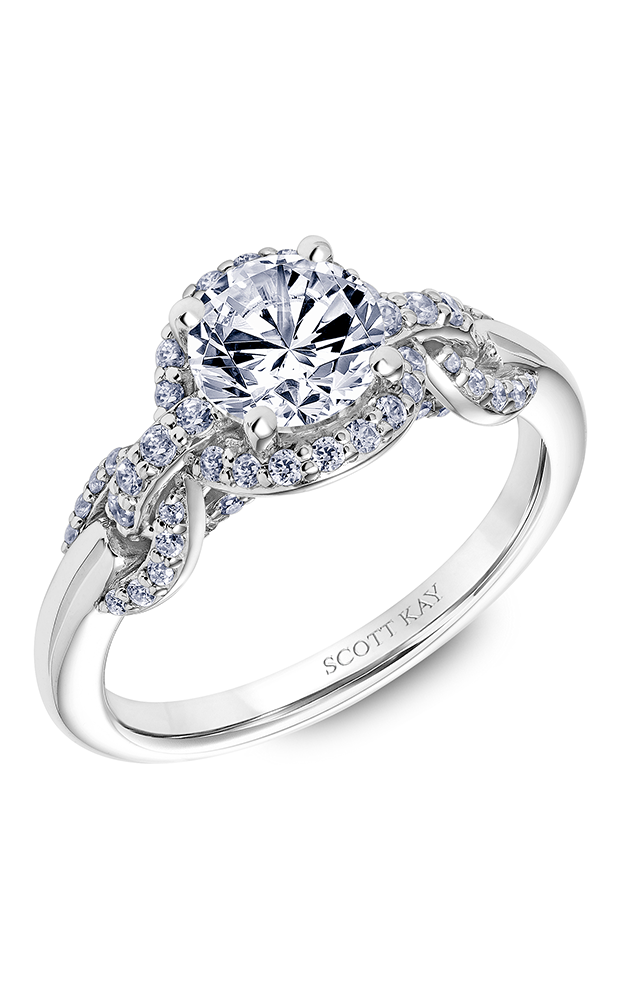 Scott Kay Embrace - 18k white gold 0.42ctw Diamond Engagement Ring, 31-SK6036ERP-E product image