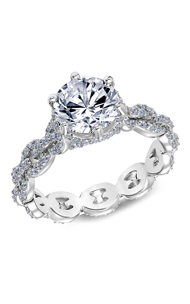 Scott Kay Embrace - 14k white gold 0.75ctw Diamond Engagement Ring, 31-SK5609HRP-E product image