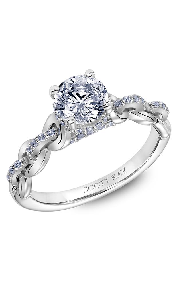 Scott Kay Embrace - 14k white gold 0.25ctw Diamond Engagement Ring, 31-SK5615ERP-E product image