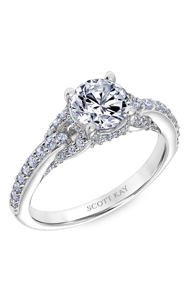 Scott Kay Embrace - 14k white gold 0.50ctw Diamond Engagement Ring, 31-SK6035ERP-E product image