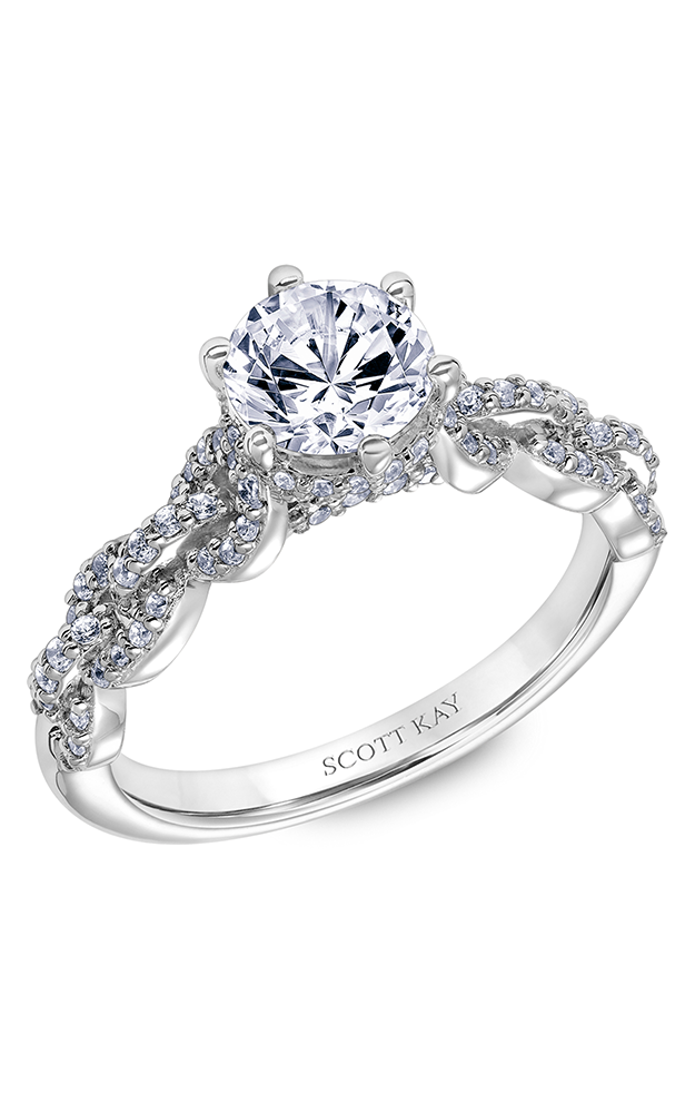Scott Kay Embrace - 14k white gold 0.42ctw Diamond Engagement Ring, 31-SK6037ERP-E product image