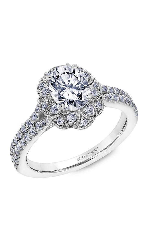 Scott Kay Heaven's Gates - 14k white gold 0.65ctw Diamond Engagement Ring, 31-SK5612EVP-E product image