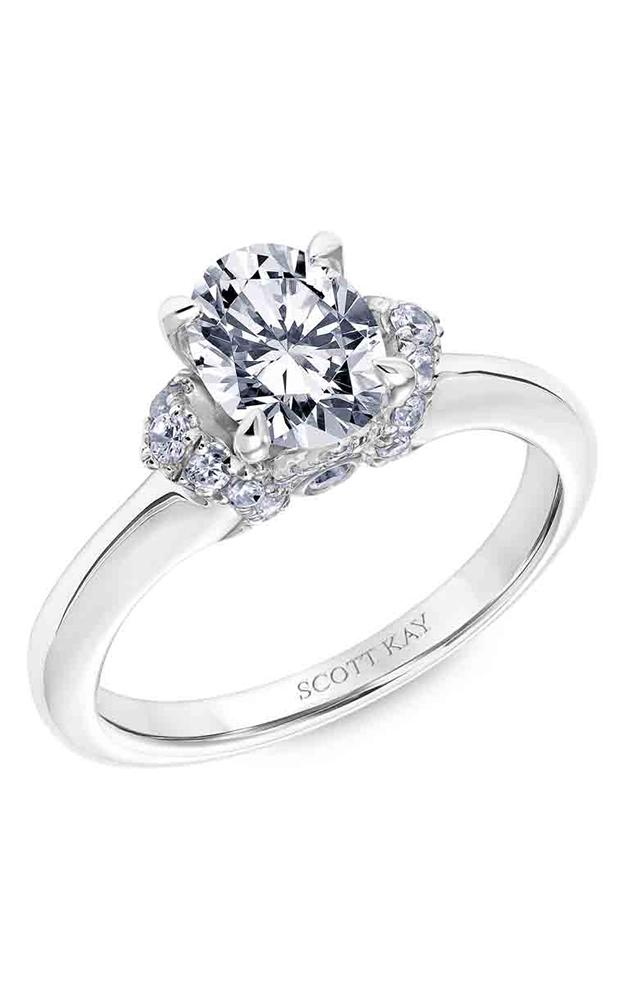 Scott Kay Luminaire - 14k white gold 0.35ctw Diamond Engagement Ring, 31-SK5596FVP-E product image