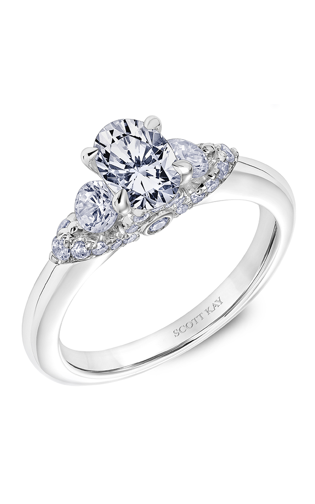 Scott Kay Luminaire - 14k white gold 0.65ctw Diamond Engagement Ring, 31-SK5599EVP-E product image