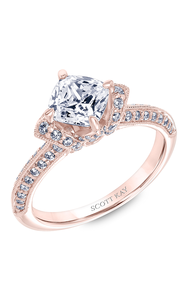 Scott Kay Luminaire - 14k rose gold 0.65ctw Diamond Engagement Ring, 31-SK5600GUP-E product image