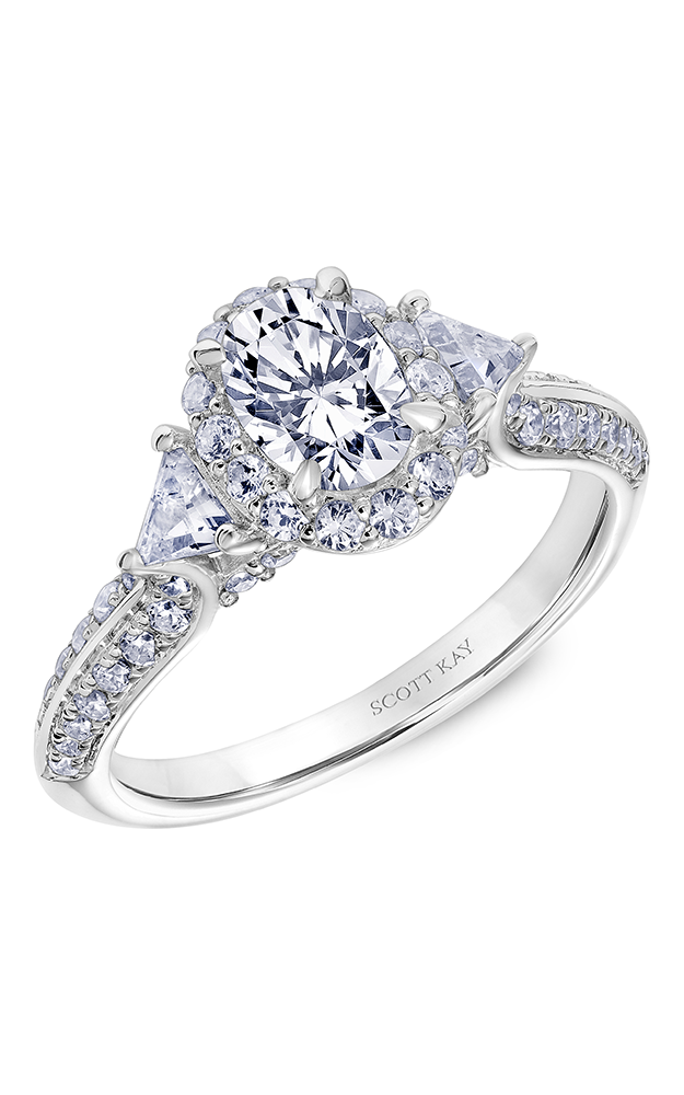 Scott Kay Luminaire - 14k white gold 0.85ctw Diamond Engagement Ring, 31-SK5605DVP-E product image