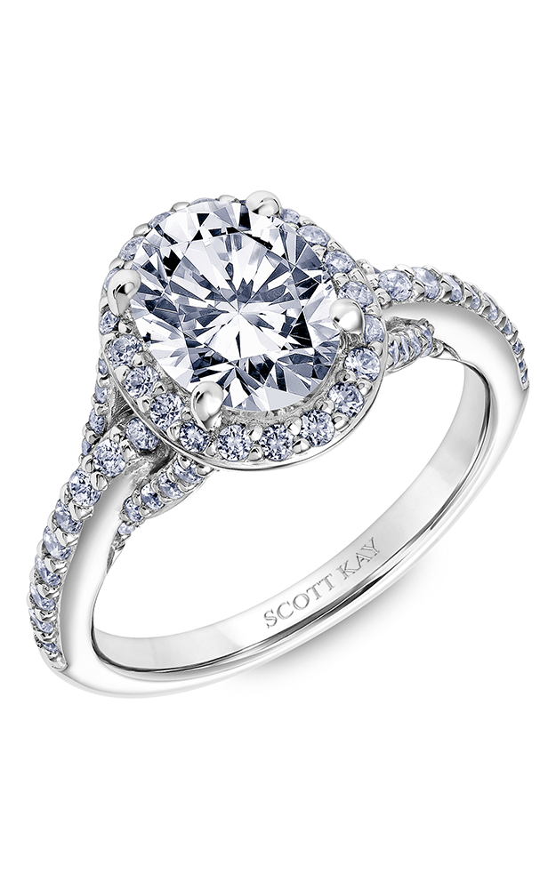 Scott Kay Embrace - 14k rose gold 0.65ctw Diamond Engagement Ring, 31-SK5610GVP-E product image