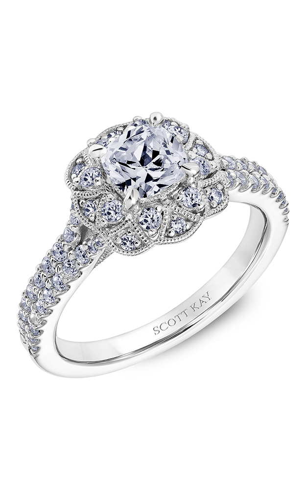 Scott Kay Heaven's Gates - 18k rose gold 0.65ctw Diamond Engagement Ring, 31-SK5602EUP-E product image