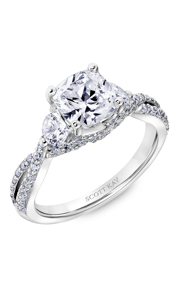 Scott Kay Guardian - 18k white gold 1.10ctw Diamond Engagement Ring, 31-SK6013HUP-E product image